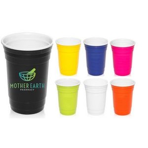16 oz Reusable Double Insulated Plastic Gameday Beverage Travel Party Cups
