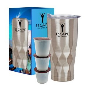 22 Oz. Vortex Stainless Steel Wake Up Tumbler