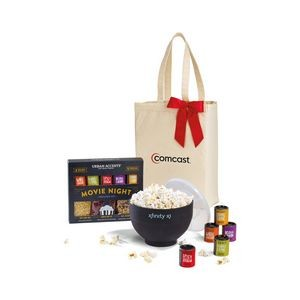 Movie Night Gourmet Popcorn Gift Set Black