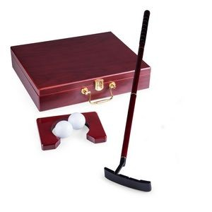 Ace Executive Putter Set in Wood Travel Case